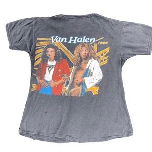 Vintage 1980 Van Halen Double Sided Graphic Band